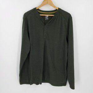 The North Face Long Sleeve Crag Henley Shirt Green